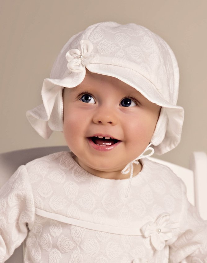 kapelusz do chrztu Julia 1