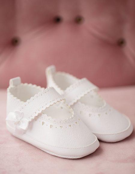baletki skrórzane – białe