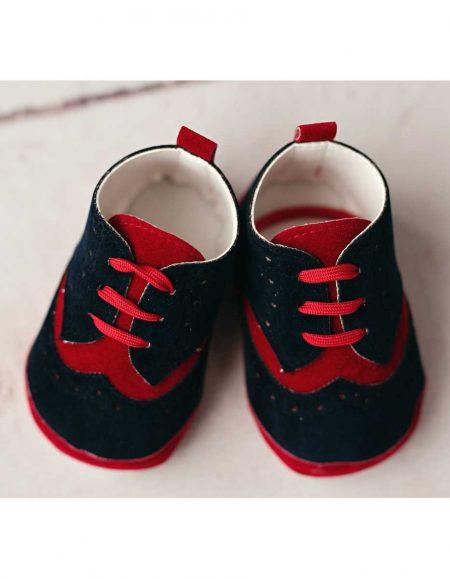 buty granatowo-czerwone